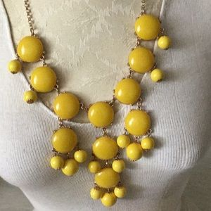 Canary yellow Statement Necklace